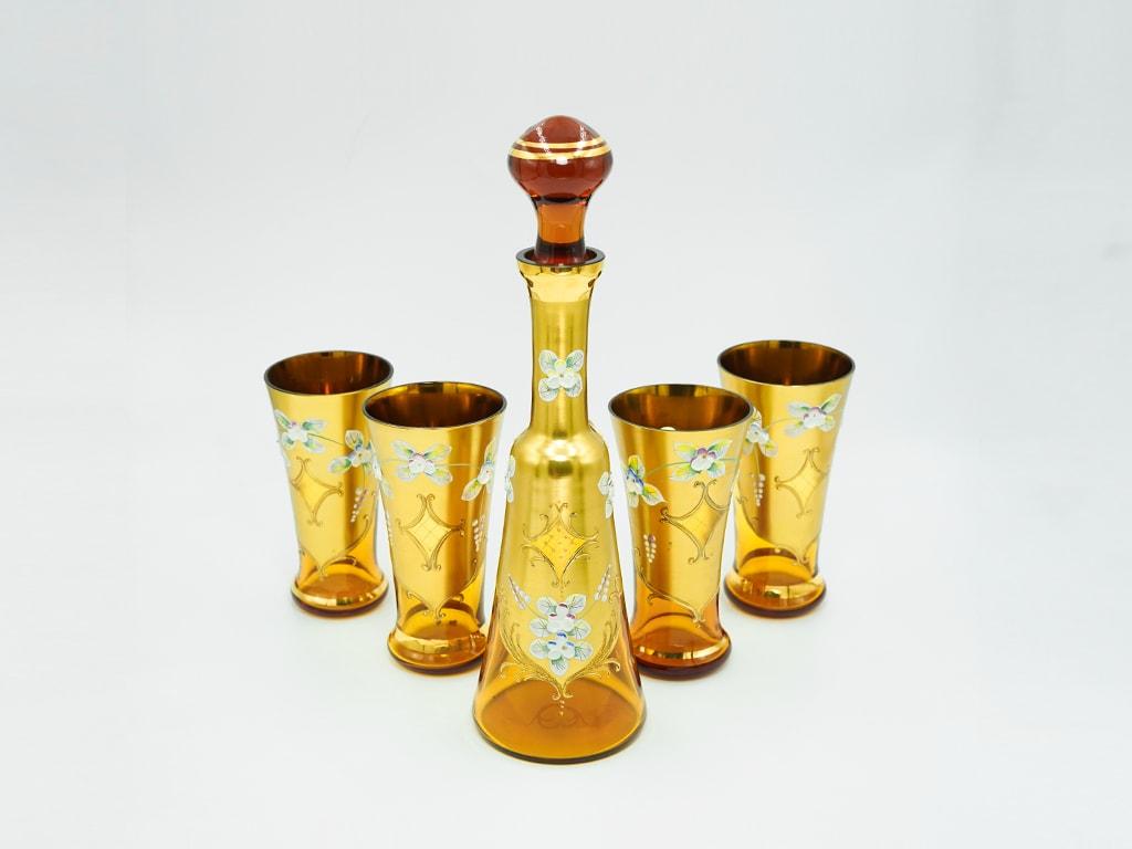 Bình đựng rượu pha lê mạ vàng 24k