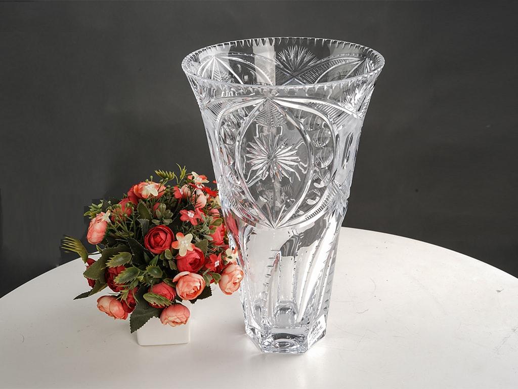 Lọ hoa pha lê trắng - C1303