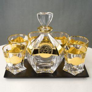Bộ rượu Laguna khảm vàng 18K - D189AV