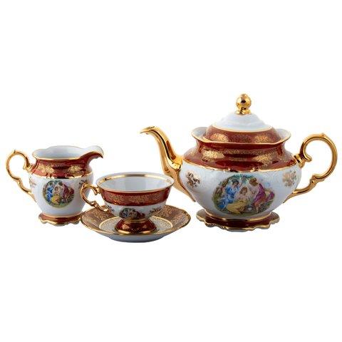Bộ trà cô tiên đỏ cao cấp