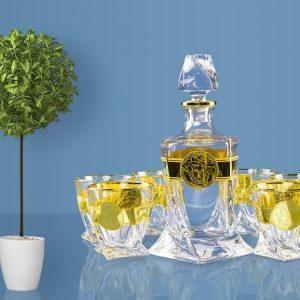Bộ rượu khảm vàng D199MV
