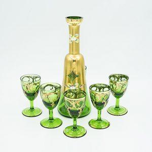 Bộ bình rượu xanh lá D197B