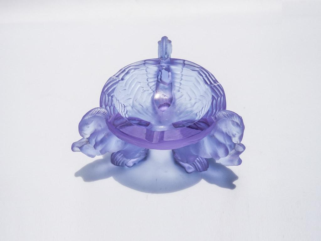 Gạt tàn pha lê xanh - G10.94