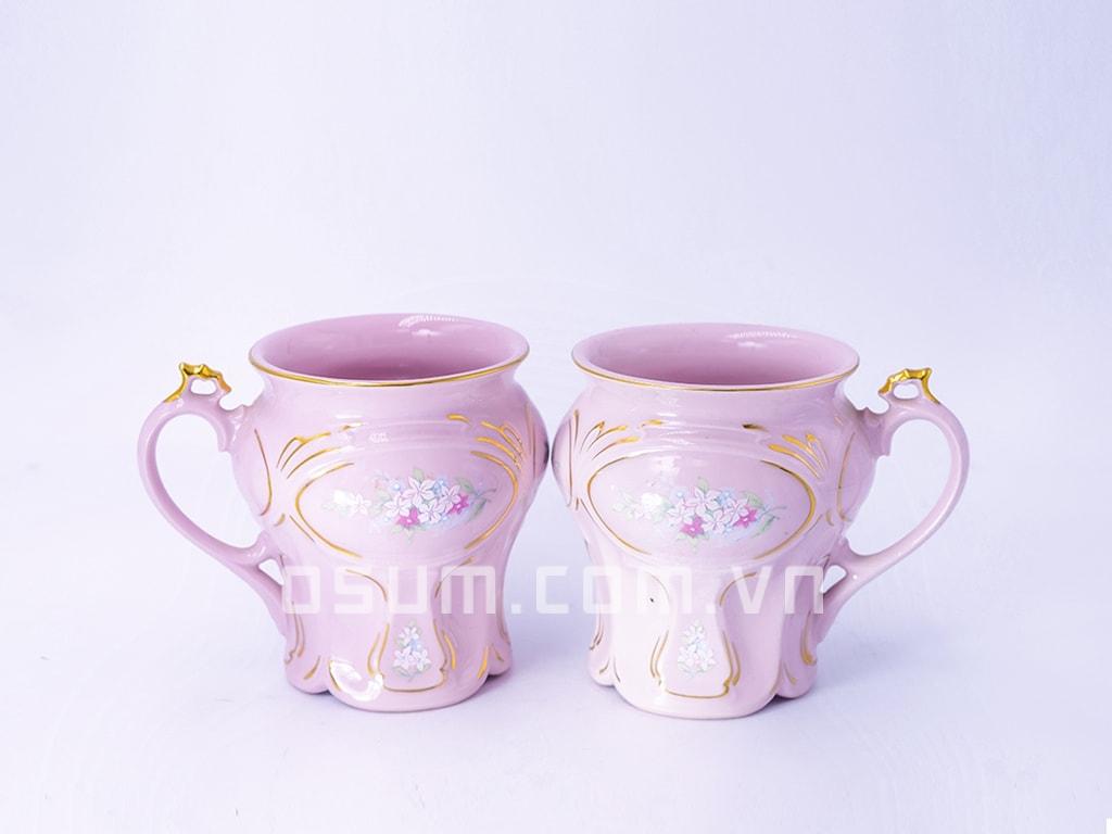 Cốc đôi sứ hồng thanh nhã - BT21