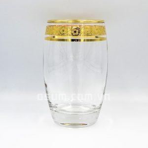 cốc pha lê khảm vàng B163KV