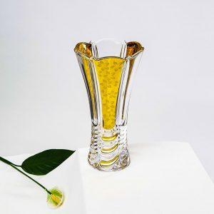 lọ hoa pha lê mạ vàng